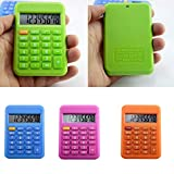 Vektenxi Pocket Student Mini Electronic Calculator Candy Color School Office Supplies Random Color Durable and Useful