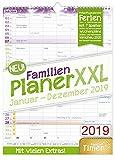 FamilienPlaner XXL 2019 33x44cm, 7 Spalten, Wandkalender 12 Monate Jan-Dez 2019 - Wandplaner, Familienkalender, Ferientermine, viele Zusatzinfos Bild