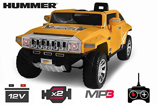 Preisvergleich Produktbild Lizenz Kinderauto Hummer H2 2 x 35W 12V MP3 RC Elektroauto Kinderfahrzeug Ferngesteuert Elektro Auto (Rot)
