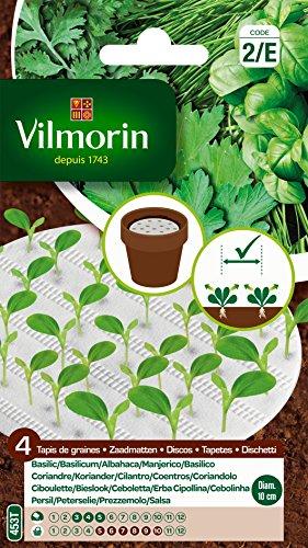 Vilmorin 5874249 Tapis de 4 aromatiques, Vert, 90 x 2 x 160 cm
