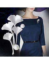 TT El estilo pastoral de la moda femenina deja broche grande de los accesorios de la broche,Deslumbrante pl,5.15cm * 3.2cm