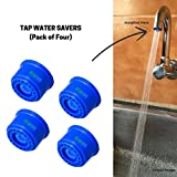 Neosystek Neo005 Plastic Kitchen Water Saving Aerator Tap Filter (Blue, 3 LPM, Pack of 4)
