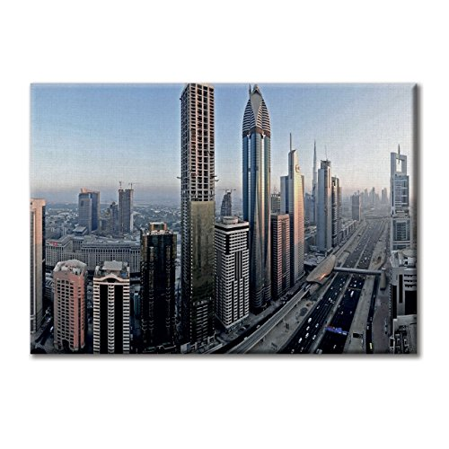 Leinwandbild Leinwand Dubai Top View Road Wolkenkratzer Mobel 100x70