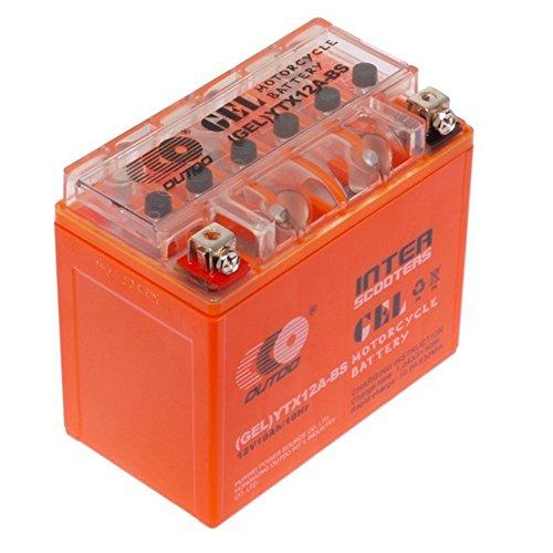OutDo, YTX12-BS, Batteria al piombo, 12 V, 10 Ah, batterie al gel, senza manutenzione, ermetica