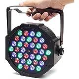 SOLMORE 36W 220V Lampe de Scène DMX512 RGB 36 LED Commande Sonore/Musique Jeux de Lumière Disco Spot PAR Projecteur Effet DJ Éclairage Atmosphère Déco Soirée Anniversaire Mariage Fête Bar KTV (FR Prise)