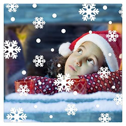 Wand Fenster Aufkleber Engel Schneeflocke Weihnachten Xmas Vinyl Kunst Dekoration Decals