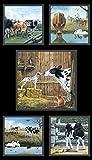 Farm Life Kühe Waden Waden 100% Baumwolle Quilten