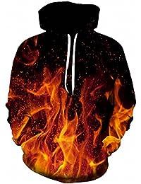 hot sale online 01fae f2afe Amazon.it: FELPA NERA CON CAPPUCCIO - Arancione: Abbigliamento
