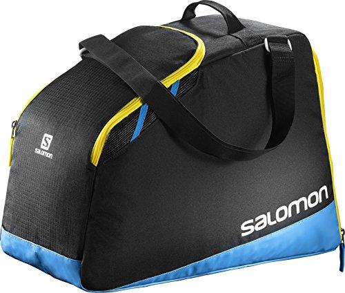 Salomon l38276100, borsa da sci 40 l extend max gearbag unisex – adulto, nero/blu, taglia unica