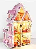 fatto a mano in legno in miniatura della casa di bambola di legno adulto a cercare di fatti a mano assembly dalla vernice! Miniature arti self-made e mestieri lavoro interiore che bagliore nella lampadina (japan import) - E-kaimono - amazon.it
