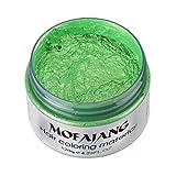 Cheveux Coloration Crème, Toamen Crème de teinture à la boue et à la cire Colorant DIY 7 couleurs (A)