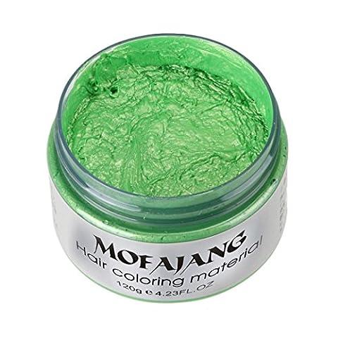 Ularma 2017 DIY Hair Dyeing Clay Wax Mud Dye Cream Grandma Hair Ash Dye Temporary 7 Colors (Green)
