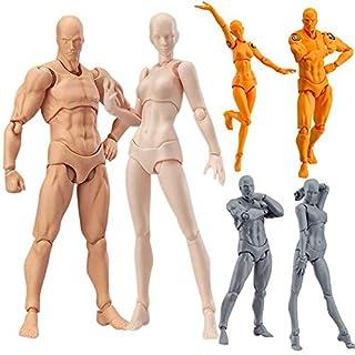 ASOSMOS 2 Teile / Satz 2 Teile / Satz Licht Körper Chan & Kun PVC Movebale Action Figure Modell Für Shf Version 2.0 Geschenke Modellpuppe (Haut)