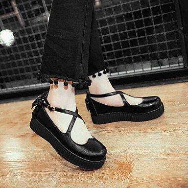 Confortevole ed elegante piatto scarpe donna Appartamenti Primavera Estate Autunno comfort informale in similpelle Liane Bowknot fibbia nera Beige rosa Black
