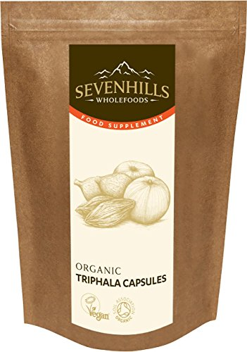 Sevenhills Wholefoods Organic Triphala Capsules 500mg, 100g, approx 167 capsules Test