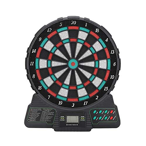 GYFHMY Elektronische Dartscheibe, 12-Zoll-Soft-Tip-Dartscheibe, 18 Arten von Spielgruppen und 159 Arten von Spielen, LCD-Display Automatic Score, für die Freizeit zu Hause