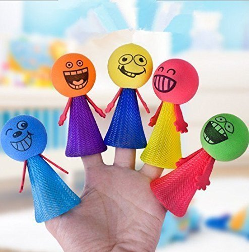UChic 5 STÜCKE Sprung Puppe Bounce Elf Fly Kreative Kinder Kinder Baby Pädagogisches Spielzeug Frühling Spielzeug Bounce Gequetschte Spielzeug Die Bösewicht Bounce Dekompression Spielzeug 9 cm von Zufällige Farbe (Magic-handschuhe Dehnbare)