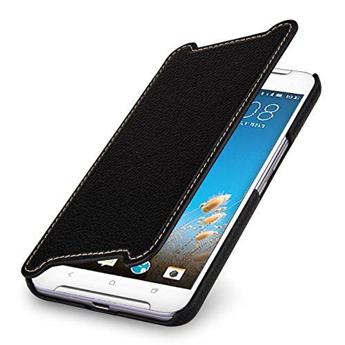 StilGut Book Type Case, Hülle Leder-Tasche kompatibel mit HTC One X9, Schwarz