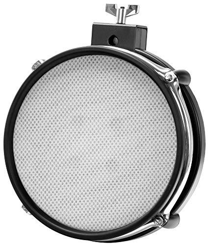 "XDrum MP-08 Mesh Pad 08"" (E-Drum, Mesh Head, Gewebe-Fell, Dual Zone, Rim Shot Funktion, natürliches Spielgefühl, Roland kompatibel, inkl. Halter)"