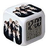 Skisneostype Kpop BTS Digitaler Wecker mit 7 Farben und LED-Lichtern, süßes Cartoon-Design, Bangtan H08