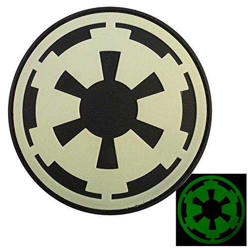 Glow Dark Star Wars Galactic Empire Insegne Imperial Logo PVC Gomma 3D Velcro Toppa Patch