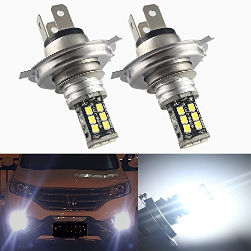 Preisvergleich Produktbild Everbright 2er Pack H4Sockel weiß (6000K-8000K) 283515-smd Auto Fahrzeug LED Nebel Licht Tag Running Fahren Lampe Birne Head Light