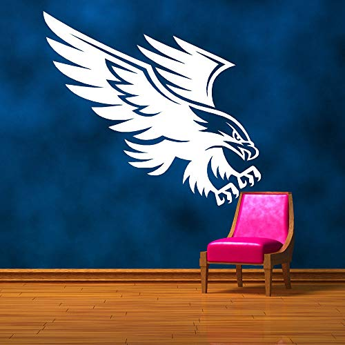 American Eagle Bird Of Prey Wall Art Sticker Decalcomania Stencil Animal Murale Camera da letto Stickers murali Home Decor Wall Art Wallpaper 136x69cm