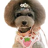 Hundegeschirr Welpengeschirr Soft Brustgeschirre Vest Harness für Kleine Hunde mit 1.2M Hundeleine Walking Leine Haustier Leash Pet Leads Tierleine (S for 1.5kg-3kg, erdbeere pink)
