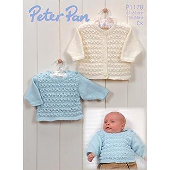 7bf8a76507c6 Peter Pan Baby Children s DK Cardigans   Hat Knitting Pattern 1177 ...