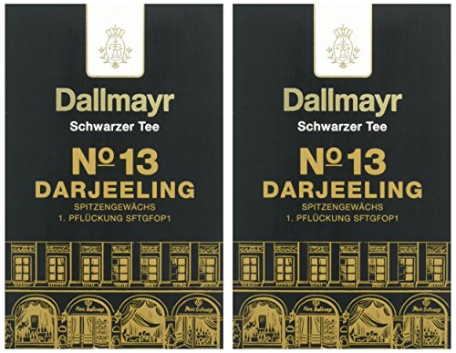 Dallmayr Schwarztee – Nr. 13 Darjeeling First Flush, 2er Pack (2 x 100 g)