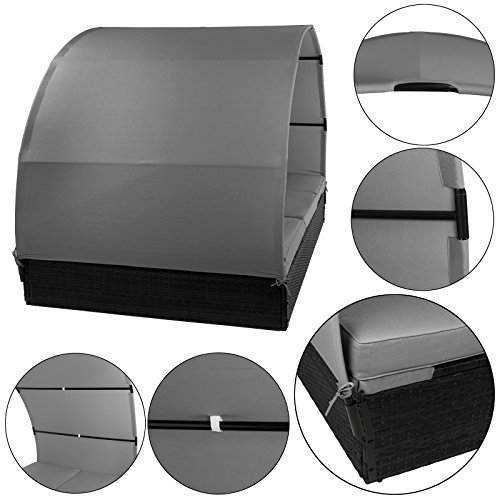 bb-sport-sonnenliege-polyrattan-doppelbett-200-x-140-cm-sonnendach-sitzpolster-abnehmbare-bezuegen-ruecken-fusselemente-5-fach-hoehenverstellbarfarbetitan-schwarz-kieselstrand-5