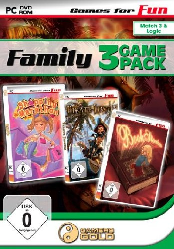 Games for Fun Family Game Pack 3 - Shopping Marathon/Pirate Jewels/Book Stories - [PC]