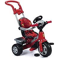 FEBER Trike Triciclo Ferrari, Color Negro, Rojo, Plata, 12m+ (Famosa 800005840)