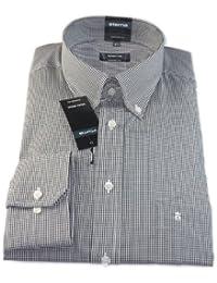 ETERNA Herren Langarm Hemd Comfort Fit Button-Down-Kragen Superlange Ärmel 72 cm schwarz / weiß kariert 4303.39.E194.ÄL72