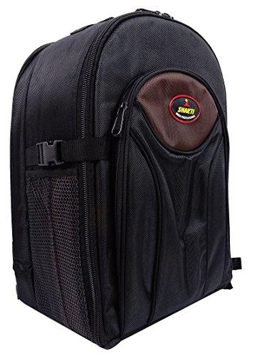 DigiBags DSLR Kamera Tasche wasserdicht mit Objektiv Fach Rucksack professioneller Rucksack Schwarz und lila