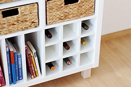 Ikea Kallax Expedit Regal Einsatz für 9 Flaschen (Fächer 10 x 10 cm) Flaschenregal Weinregal Wein...