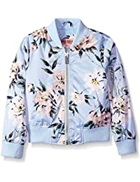 Urban Republic Girls' Printed Sateen Bomber Jacket