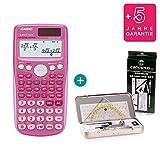Casio FX 85 GT Plus Pink + Geometrie-Set + Erweiterte Garantie
