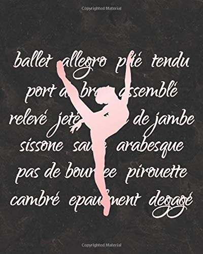 Elegant Ballet Arabesque: 2019 Daily Planner for Dancers and Dance Teachers por Dance Thoughts