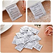 Home Clearance Sale 100 Packs Non-Toxic Silica Gel Desiccant Moisture Absorber Dehumidifier, 1g