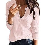 Oberteil Damen Lose Bluse Shirt Langarm Tunika Tops Damen Oberteil Langarm T-Shirt Pulli Rundhals Ausschnitt Hemd Sweatshirt mit Streifen Lose Asymmetrisch Jumper Bluse Tops Felicove