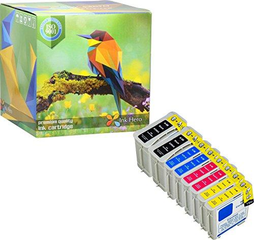 Ink Hero Paquete de 8 Cartucho HP 88 88XL C9385AE C9396AE C9391AE C9392AE C9388AE C9393AE Officejet Pro 550 K5400 K5400dtn K5400dtwn K550 K550dt K8600 L7480 L7555 L7580 L7590 L7680 L7700 L7780