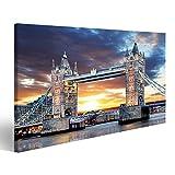 islandburner Bild Bilder auf Leinwand London - Tower Bridge Großbritannien Wandbild Leinwandbild Poster