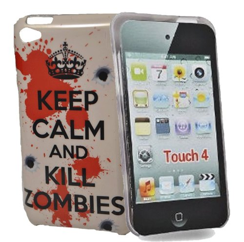 Accessory Master Keep Calm and Kill Zombies Hart Schutzhülle für Apple iPod Touch 4 (Zombies Fällen Ipod 4)