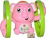 Vibgyor Vibes™ Funny Key Operated Wind up Light and Sound Rolling Elephant/Monkey/Dog Toy- Pack of 1