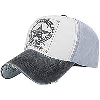 Yueunishi Unisexo Vendimia Gorra de Béisbol Sombreros Ajustable, Amante Gorra de Béisbol, Mujer Hombres Algodón Lavado, Sombrero de Sol de Deportes al Aire Libre (Negro)