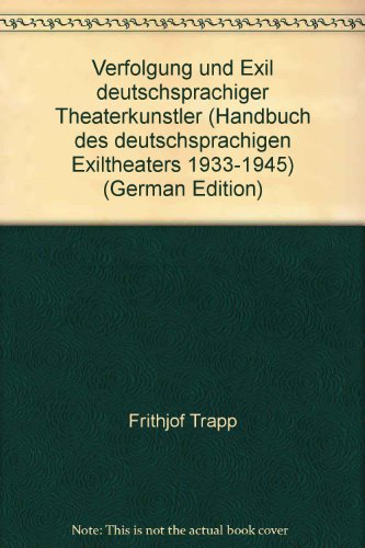 Handbuch des deutschsprachigen Exiltheaters 1933-1945. 2 Bände in drei Teilen.