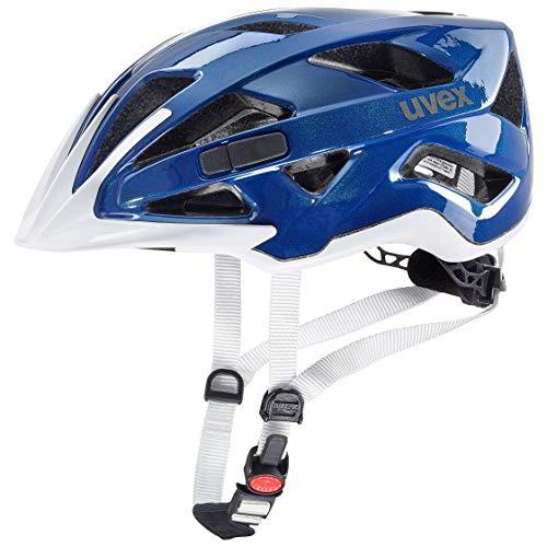 uvex UnisexErwachsene active Fahrradhelm, blue white, 56-60 cm