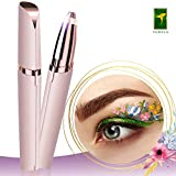 TOMIYA Eyebrow Hair Remover, Painless Portable Precision Electric Eyebrow Hair Trimmer, Eyebrow Hair Removal Razor with Light, Rose Gold (Batteries not Included)