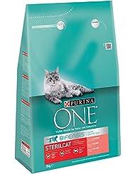 Purina ONE Bifensis Pienso para gatos Esterilizados Salmón y Trigo  3 Kg